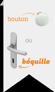 bouton ou béquille poignée