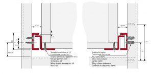 schéma montages des coulisses en applique