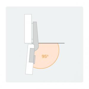 Charnière angle 95°