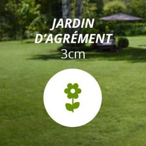 Hauteur pelouse jardin d'agrément