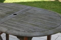 Table en teck grisée