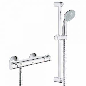 Barre de douche et mitigeur