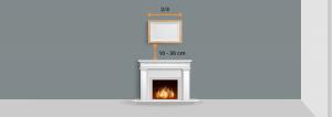 Positionner un cadre au dessus d'une cheminée