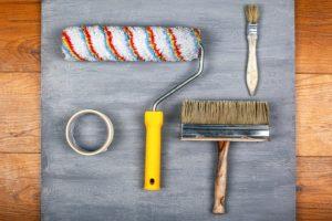 outils peinture plafond