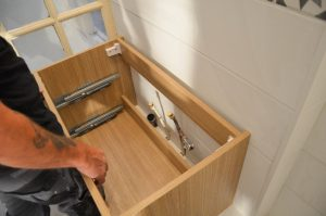 installation meuble salle bain