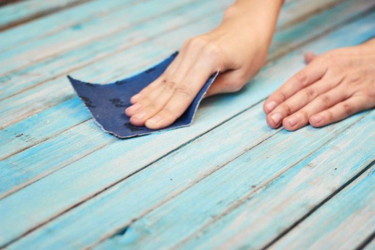 abrasif bois bleu