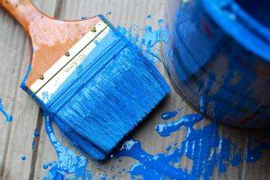 peinture solvant pinceau