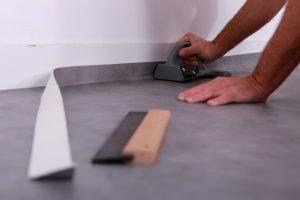 decoupe pose lino renovation