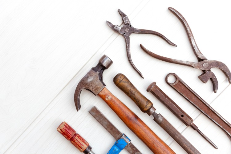 outils rouille bricolage